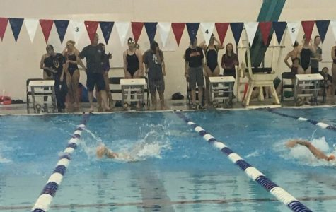 Simmers compete at the annual Gene Dozah Invitational on Sept. 9 at the Powell Aquatic Center.