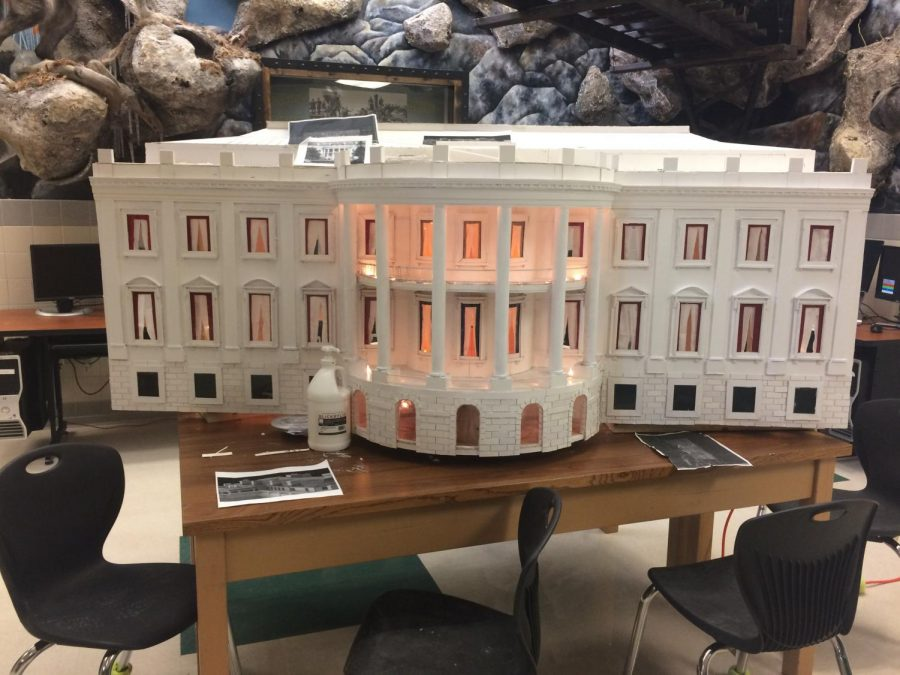 The 3D display of the White House is just one of the few art projects that the art students have been working on this year.