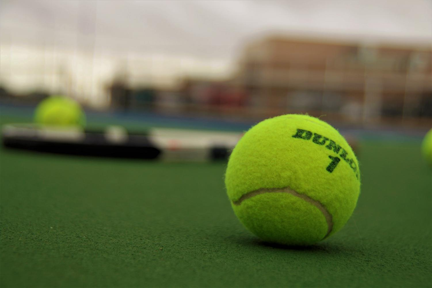 Spring tennis at PHS has drawn a record number of eighth-graders this year.