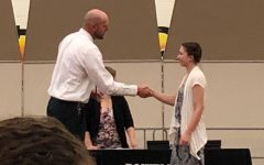 The 2020 senior awards banquet is one ceremony that did not take place this year. In 2019, then-senior Joelynn Petrie shook the hand of then-Assistant Principal Mr. Tim Wormald.