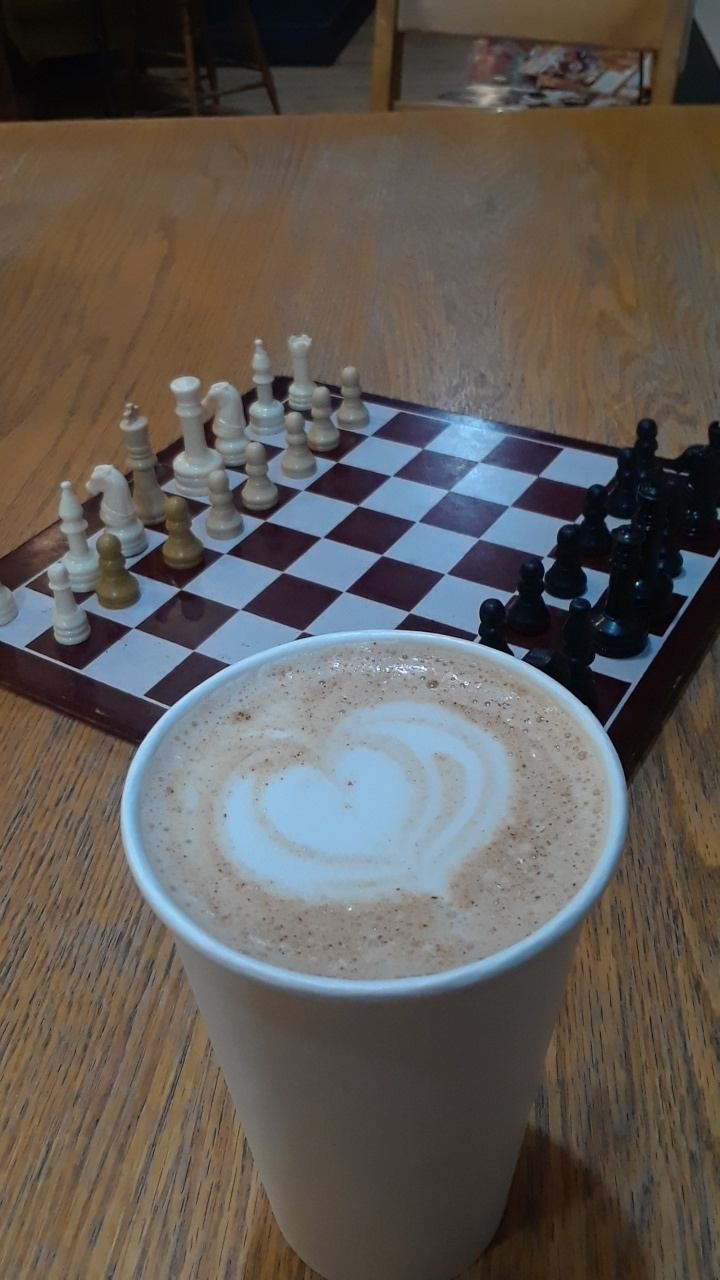 Chess Club practices outside of meetings at home and in coffee shops.