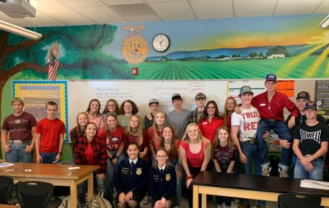 FFA OFFICERS COME TO POWELL