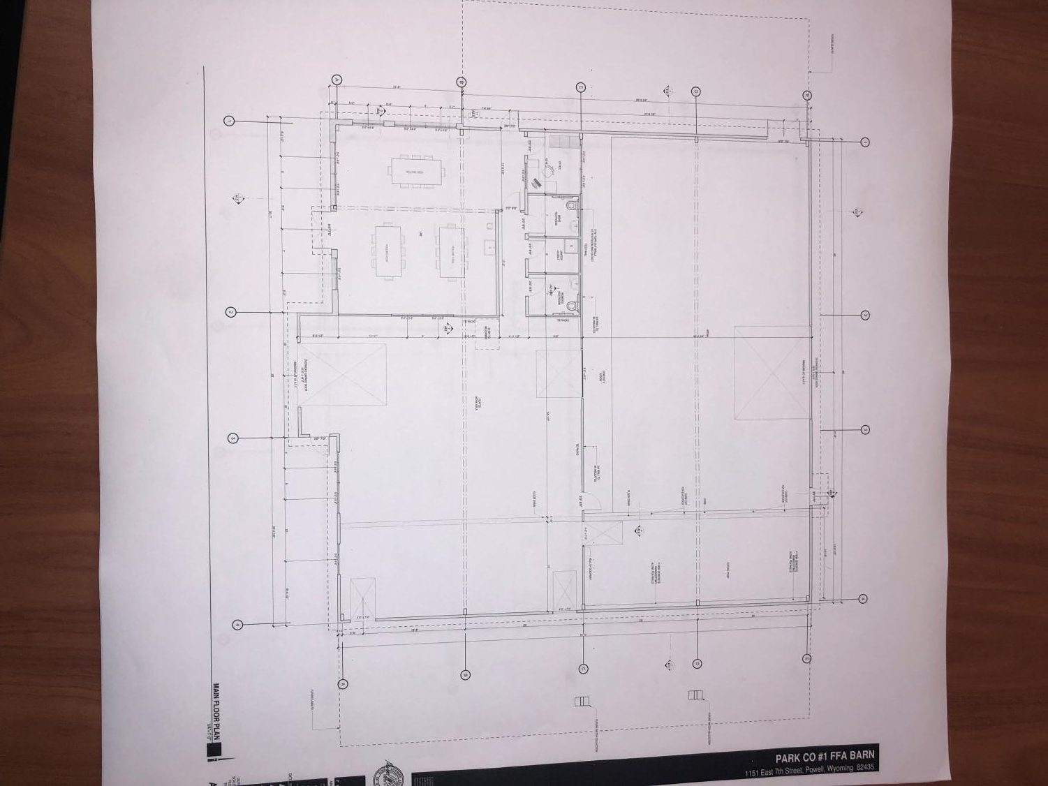 Shown is the original plan for Park County School District No. 1's new Ag barn. It's set to be built in 2020.
