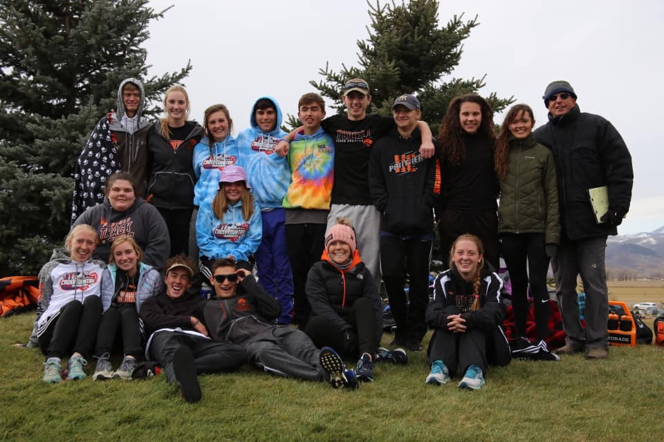 The Powell Cross Country team poses for a picture after finishing their state meet in Star Valley.