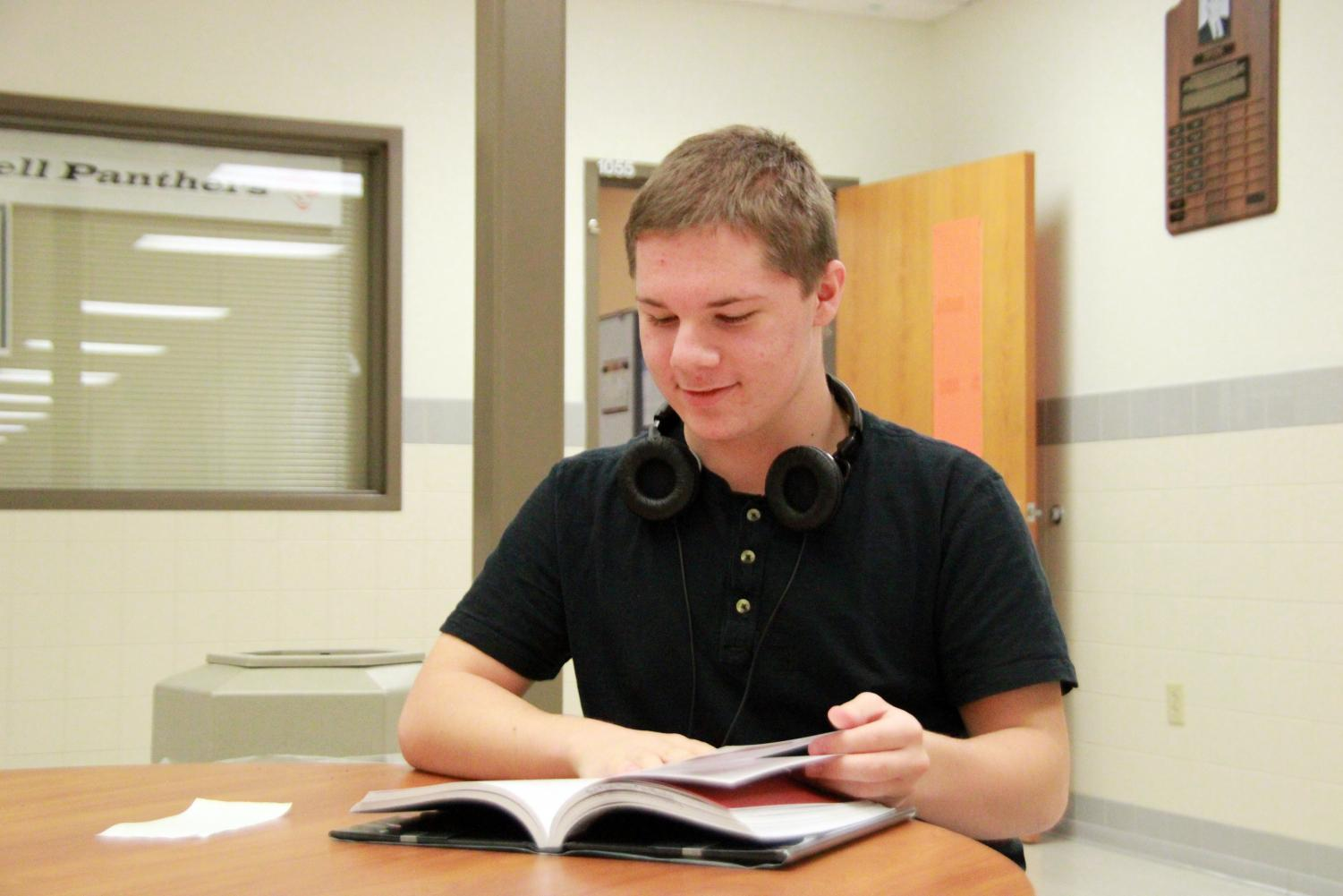 Junior Luke Condie is rarely seen without a book in his hands and has recently started reviewing books for the Prowl.