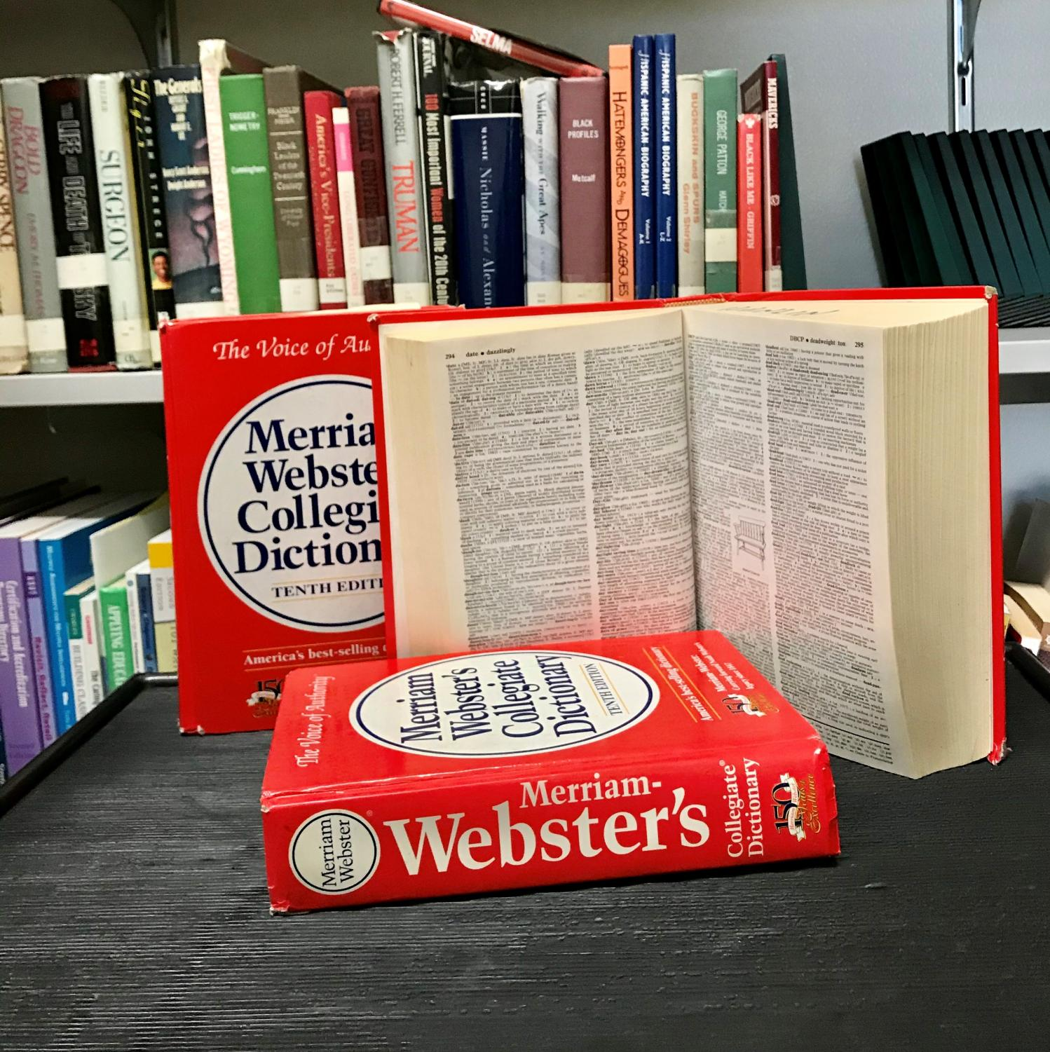 The newest addition of the Webster's dictionary included slang words.