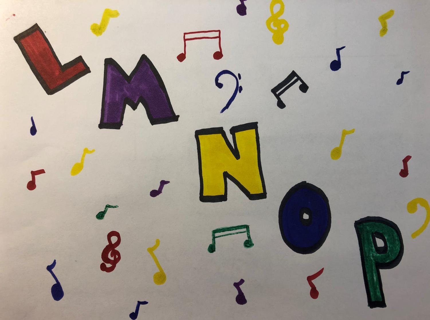 The stringing together of L-M-N-O-P in the traditional alphabet song is replaced by a more modern version in the most recent rendition of this tune.