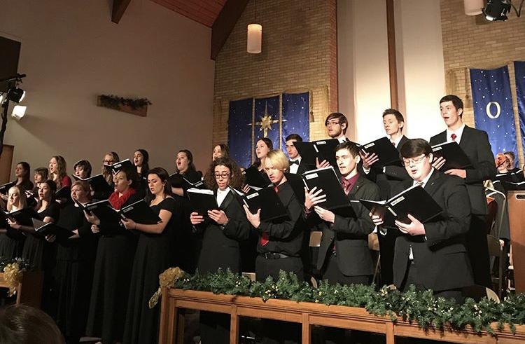 The+NWC+Concert+Choir+preforming+at+the+annual+Vespers+Concert.++