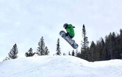 Powell 5th grader Cody Fisher makes his way through the Terrain Park at Sleeping Giant.