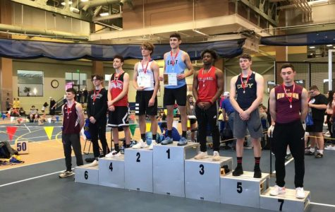 "PHS senior Dylan Preator stands on the podium at the Wyoming State Indoor Track Meet that took place on March 6-7. Preator took second in the boys triple jump with a jump of 43' 4.5"". He was also named to the Wyoming All-State Team."