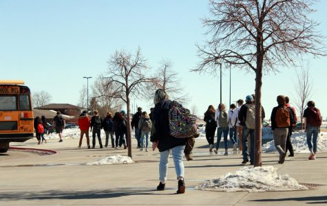 Students of PHS walk to the buses and their vehicles after another day of school and chatter about their day to one another.