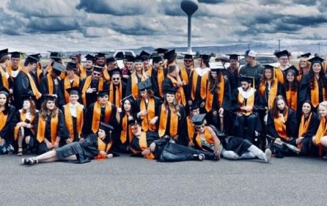 The Powell High School Class of 2020 poses for a group photo after graduation on Sunday, May 24.