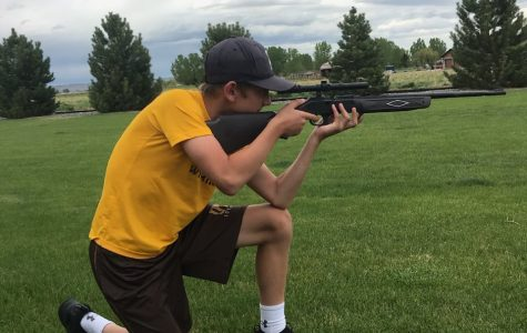 Eighth-grader Seeger Wormald poses while recreating the American Civil War.