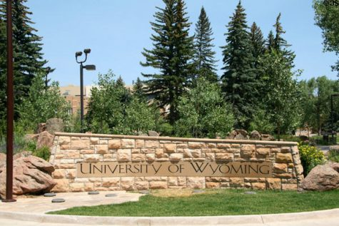 University of Wyoming Entrance Sign.