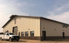 Powell High School's new agriculture barn.