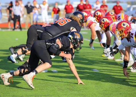 The Panthers lined up at the 50-yard line of Powell's football field to face the Star Valley Braves on Oct. 8. The Panthers came out on top, adding a victory to their record.
