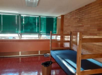 Recently vacated quarantine housing at the University of Wyoming.