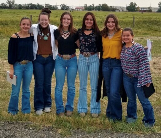 Livestock judging students who participated in the September competition include (from left) Amber Visocky, Allison Morrison, Madi Harvey, Brooklynn Bennett, Tegan Lovelady and Taylor Dye.