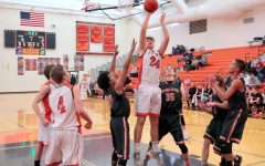 PHS senior Ashton Brewer rises for a layup during a basketball game against Worland. Brewer played on the junior varsity team during the 2019 basketball season.