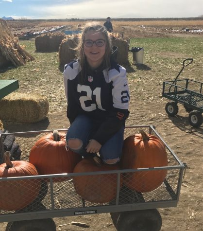 Prowl Associate Editor and Sports Editor Tegan Lovelady poses at Gallagher's Pumpkin Patch in a Dallas Cowboys jersey, Ezekiel Elliott's to be exact. She was raised by a Texas native and has been an avid Dallas fan since birth.