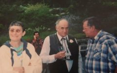 (from left) Lonna Mohr, Cliff Linster and Jim Mohr gathered for a celebration years ago. Lonna Mohr passed away Jan. 31, 2019.