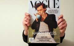 Harry Styles on the cover of the December issue of Vogue Magazine. While the cover made history, it also ignited controversy around the topic of what defines a manly man.