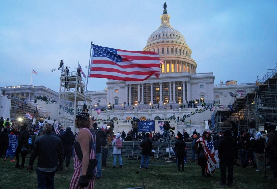 Protesters surround the U.S. Capitol on Wednesday, Jan. 6. Five people died as a result of the riot, which was staged while Congress was certifying the Electoral College presidential results.