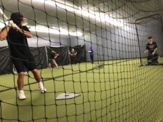 Powell Pioneer and PHS junior, Kolt Flores, hacks through a round of batting practice Jan. 29