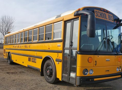 The Powell School District recently purchased six buses like the one pictured here to replace those burned in the September fire.