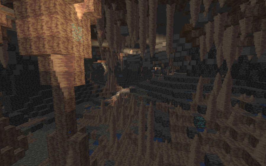 Large stalactites and stalagmites are now included in the brand new world generation, and new bioluminescent lichen to make the large formations visible.