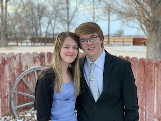 PHS sophomore Taryn Feller and junior Aiden Chandler dressed up for a mini Winter Formal at Chandler