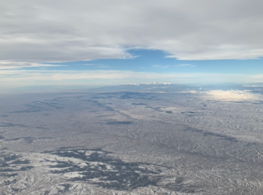A shot of the Colorado landscape taken by sophomore and Prowl reporter Gabby Paterson on her solo return flight from Orlando, FL.