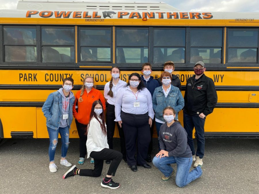 SkillsUSA+members+pose+in+front+of+the+Panther+activity+bus+after+winning+the+3A+state+SkillsUSA+title+on+April+16.+Chapter+members+include+%28from+left%29%3A+Maggie+Cappiello%2C+Olivia+Lobingier%2C+Triniti+Bruski+%28kneeling%29%2C+Jenna+Merritt%2C+Crystal+Emmett%2C+Owen+Fink%2C+Bailee+Moore+%28kneeling%29+and+Kalin+Hicswa.+Also+pictured+are+advisers+Mrs.+Denise+Laursen+and+Mr.+Mike+Ursuy.%0A