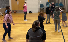 Powell Speech and Debate members play a game of volleyball after competing at the State Speech and Debate Tournament on March 12.