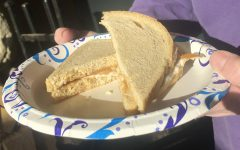 A peanut butter and mayonnaise sandwich prepared by Prowl reporter and copy editor Bailey Phillips.