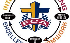 The Fellowship of Christian Athletes' logo is shown. It details the four values that contribute to their mission of leading coaches and athletes to a growing relationship with Christ.