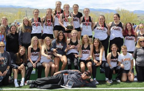 The PHS girls track team poses after winning the 3A Regional championship. This was their first Regional title since 1992.