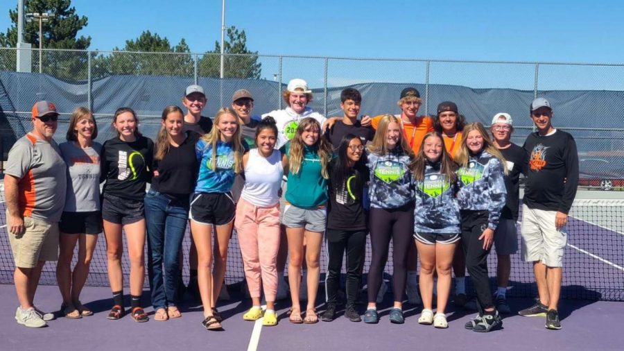 The PHS varsity tennis team shows confidence in the face of the upcoming Regional matches Sep. 23.